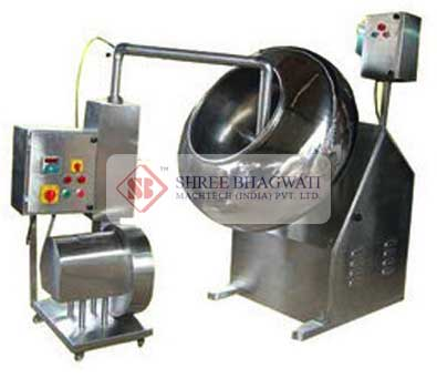 Tablet Coating Machine , Tablet Coating Pan With Spray For Film Coating Manufacturers & Exporters from India